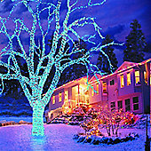 Tub of 300 Connectable Electric Blue LED Christmas Lights