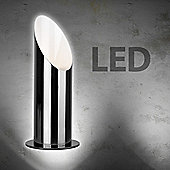 LED Uplighter Floor Lamp in Black Chrome