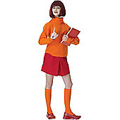 Adult Velma Fancy Dress Costume (Scooby-Doo)