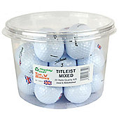 Lake Balls - Titleist Mix Union Jack Golf Balls Set of 20 Balls