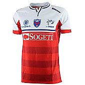 Kappa FC Grenoble Rugby Kombat Replica Away Jersey 15/16 - Red