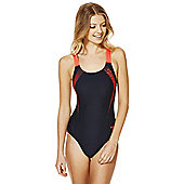 Speedo Endurance®10 Contrast Logo Muscle Back Swimsuit - Navy