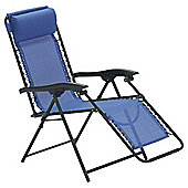 Dobbies Essentials Coloured Anti-Gravity Chair, Blue