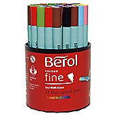 Berol Fibre Tipped Pens, 42 Pack