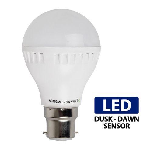 Buy 3w Bc B22 Led Dusk Till Dawn Sensor Bulb Neutral White From Our All Light Bulbs Range Tesco