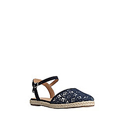 F&F Floral Embroidered Two Part Espadrille Sandals