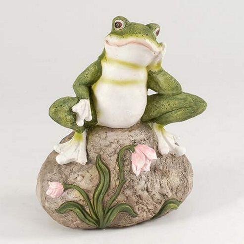 Frog on Rock Garden Ornament