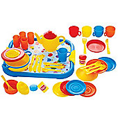 Gowi Toys 454-37 Dinner Service (Blue - 40 Piece Set)