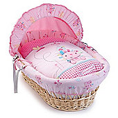 Clair de Lune Lottie & Squeek Wicker Moses Basket (Natural)