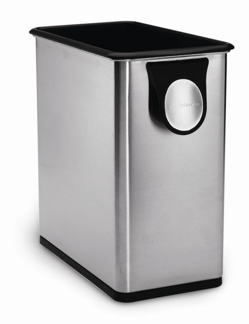 simplehuman 12.5 Litres Plastic Shopping Bag Rubbish Bin in Brushed Stainless Steel