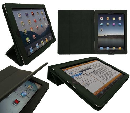 iTALKonline 19335 PadWear Executive Green Wallet Case With TRI-FOLD SMART TILT For Apple iPad 2 (Wi-Fi and 3G)