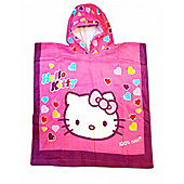 Hello Kitty 'Hearts' Hooded Poncho Towel