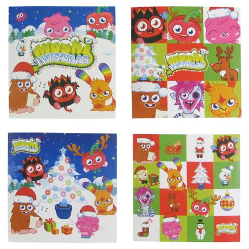 Moshi Monster Christmas Cards, 20 Pack