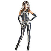 Skelee Girl - Adult Costume 18+
