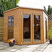 8ft x 8ft Tongue and Groove Corner Summerhouse