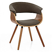 Grafton Dining Chair Walnut & Brown
