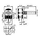 Mini Dual Potentiometer 10K Logarithmic Track Variable Resistor