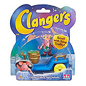 Clangers Small Vehicle & Figure - Small With Soup Trolley