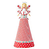 Nordic Red Christmas Angel Tree Topper