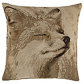 Jacquard fox cushion