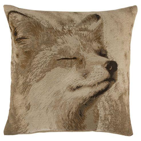 Jacquard fox cushion