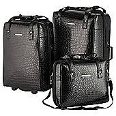 Elle 3-Piece Luggage Set, Black