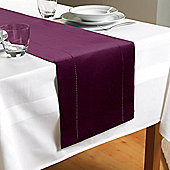 Country Club Hem Stitch Table Runner in Plum