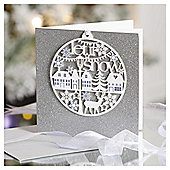 Let It Snow Luxury Christmas Cards, 6 pack