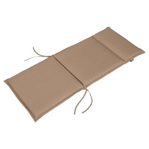 Tesco Polycotton Garden Chair Cushion, Mocha