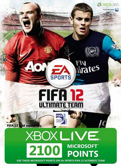Xbox Live - FIFA 12 - 2100 Points Card