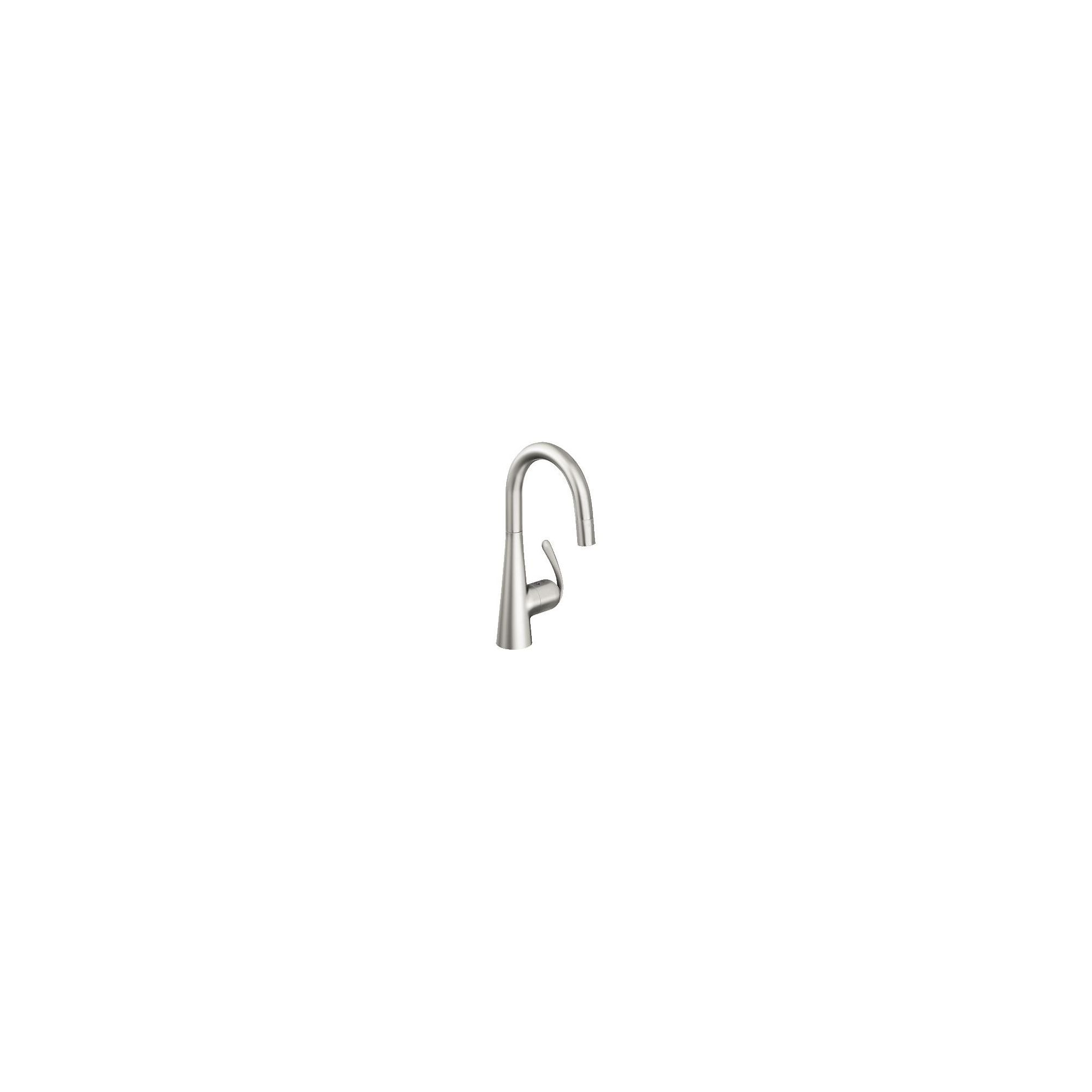 Grohe Zedra Mono Sink Mixer Tap, Pull-Down Spray, Single Handle, RealSteel at Tesco Direct