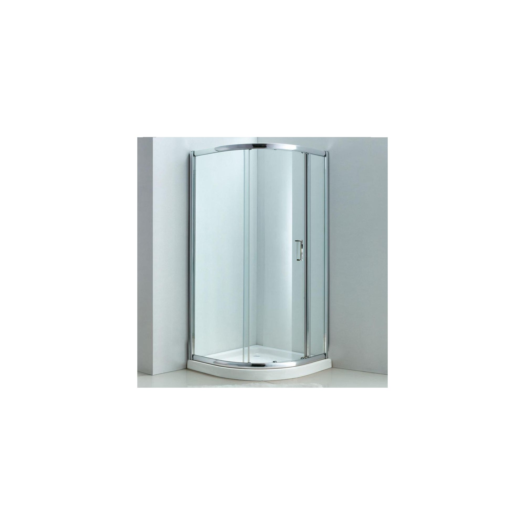 Duchy Style Single Quadrant Door Shower Enclosure, 1000mm x 1000mm, 6mm Glass, Low Profile Tray at Tescos Direct