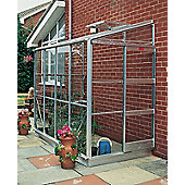 Elite Kensington Lean To Greenhouse – 4 x 8 - Natural Aluminium Finish + Base – Toughened Glass