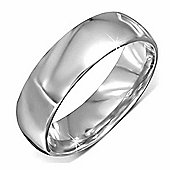 Urban Male Stainless Steel Mirror Finish Polished Curved Band Ring