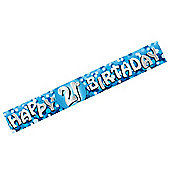 Amscan Holographic 21st Birthday Banner Blue