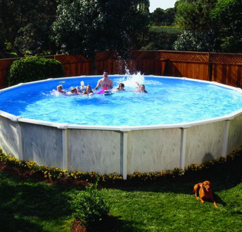 Buy doughboy regent round steel pool 12ft with super kit for Garden pool tesco
