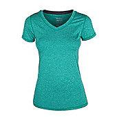 Panna Womens Melange T-Shirt - Green