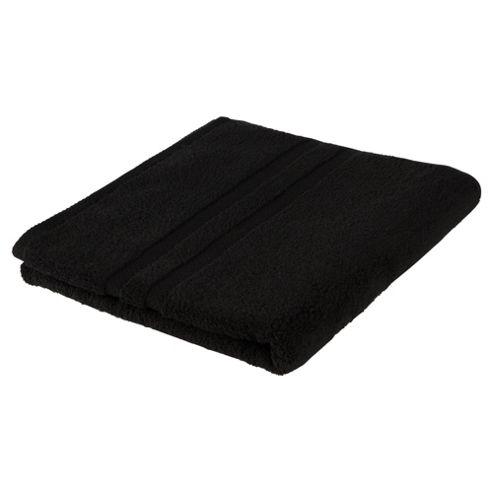 Tesco 100% Combed Cotton Bath Towel Black