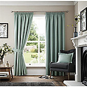 Curtina Marlowe Duck Egg Lined Curtains - 90x54 Inches (229x137cm)
