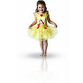 Rubies Fancy Dress Costume - Disney Princess Belle Ballerina Costume - CHILD TODDLER