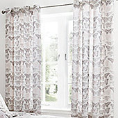 Catherine Lansfield Pink Pastiche Butterflies Lined Curtains - 66x72