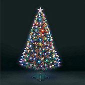 6ft Superstar Green Fibre Optic & LED Christmas Tree