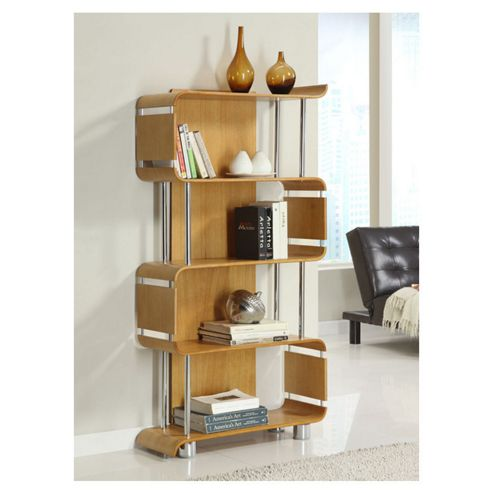 Jual Curve Bookshelf - Oak
