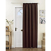 Curtina Kent Lined Door Curtain - Chocolate