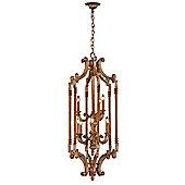 United Lights Rasin Lantern 9 Light Hanging Lantern in Golden Umber