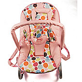 Cute Baby Rocker Bouncer in Pink with Colourful Dots