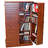 Techstyle CD / DVD / Blu-ray / Video Multimedia Storage Cabinet - Walnut