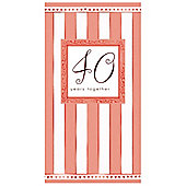 40th Anniversary Folded Die-Cut Invitation (8pk)