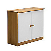 Verona Mid-Sleeper Cupboard Colour Antique and White