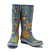 Evercreatures Ladies Dahlia Funky Wellies Garden Pattern 5